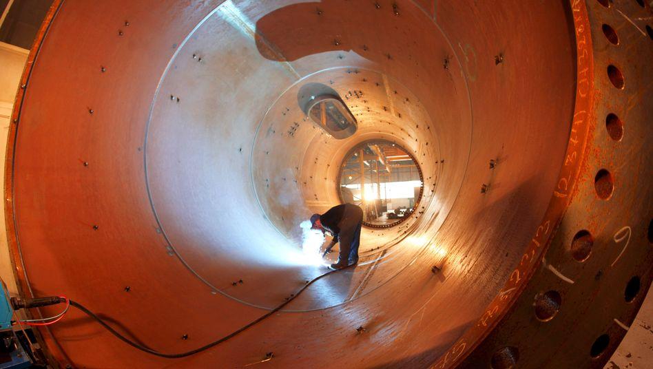 Tunnelblick: Maschinenbau und Autoindustrie fürchten den Einbruch mitten im Boom