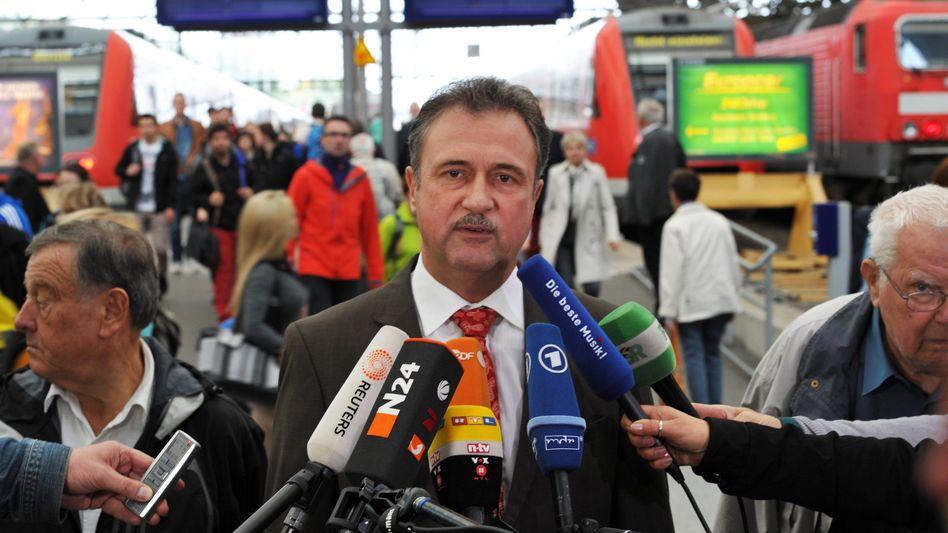 Führt Deutschlands Lokführer in einen Rekordstreik: GdL-Chef Claus Weselsky
