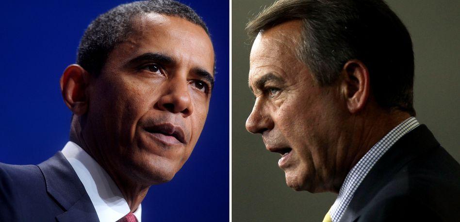 Barack Obama, Gegenspieler John Boehner (r): Schuldenproblem nur aufgeschoben