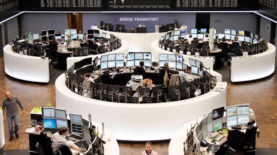 Börsenparkett: Der Ausverkauf nach dem Rezessionsschock sei wohl etwas zu heftig ausgefallen, sagen Händler