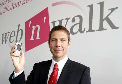 Schneller mobil: T-Mobile-Chef Obermann wirbt für die Breitbandtechnik HSDPA
