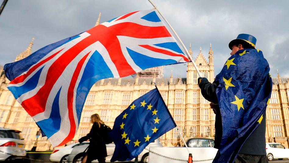 Demonstrant in London: Sorge vor Tag X.