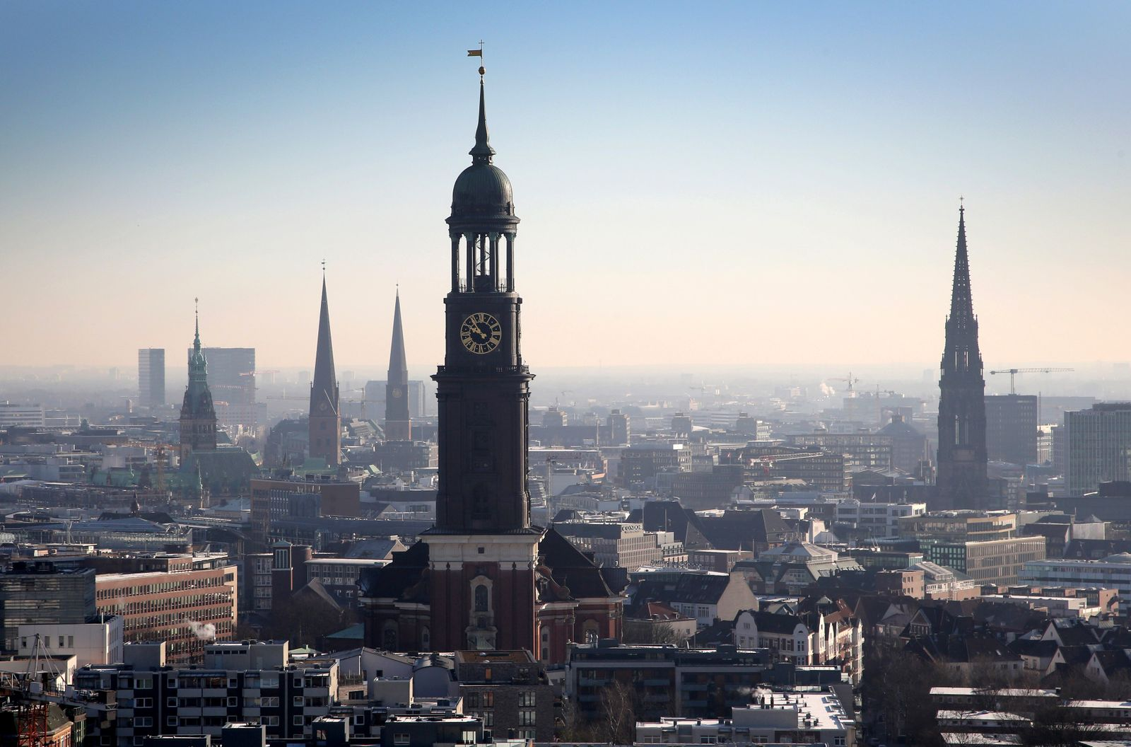 Skyline of Hamburg, Germany - 14 Feb 2018