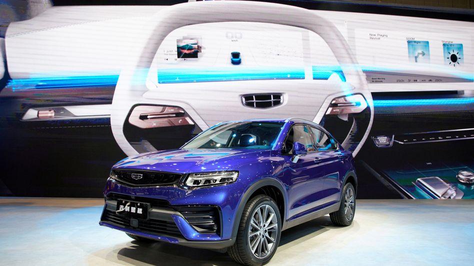 Reichlich Spielmaterial für Kooperationen: Modell des chinesischen Autoherstellers Geely bei der Automesse in Shanghai