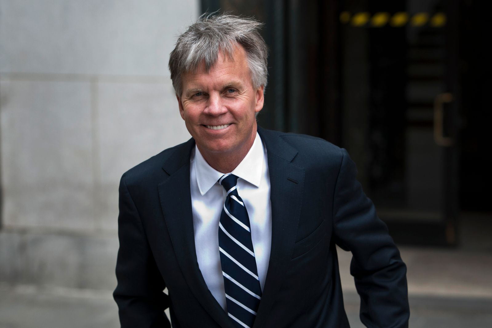 Ron Johnson, CEO of J.C. Penney, leaves New York State Supreme Court in New York