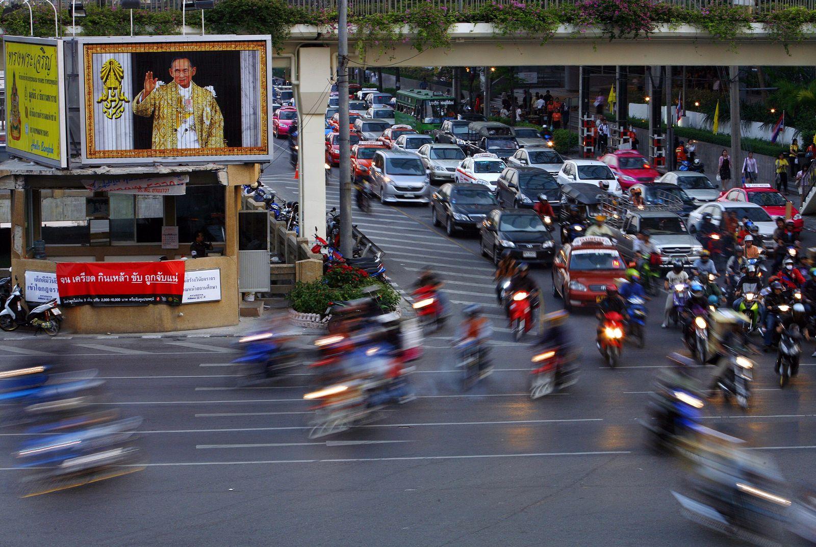 Bangkok Straßenverkehr