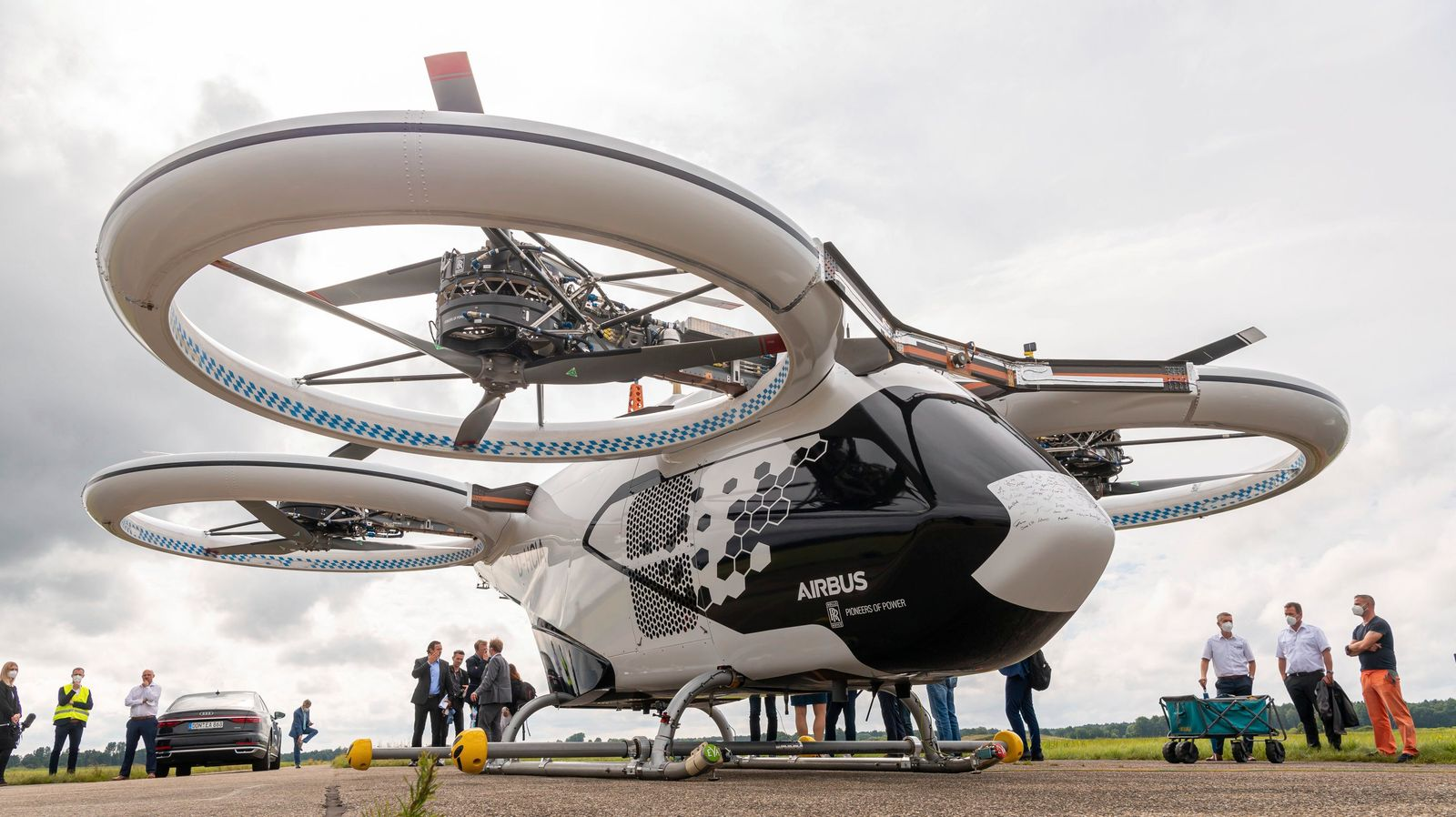 Testflug Lufttaxi-Modell CityAirbus