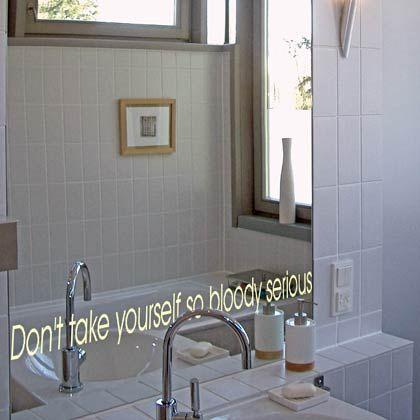 """Ein Motto für den frühen Morgen: """"Nimm dich selbst nicht so verdammt ernst"""""""