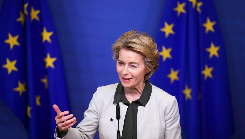 Die EU-Kommission - hier Präsidentin Ursula von der Leyen - plant offenbar einen deutlich höheren Haushaltsbeitrag Deutschlands in den nächsten Jahren ein.