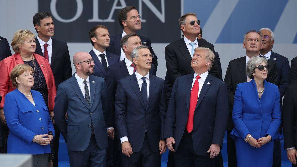 So sieht es aus: Staatschefs beim Nato-Gipfel in Brüssel