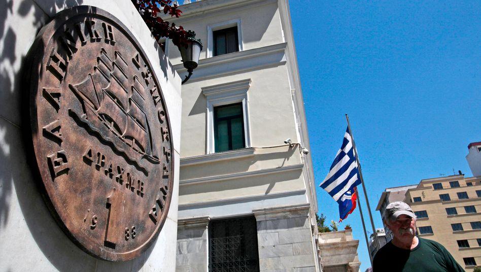 Drachme-Gedenktafel: Die griechische Währung könnte für die Hellenen wieder Wirklichkeit werden