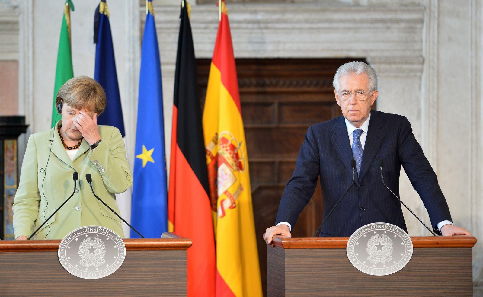 EU-Gipfel Monti / Merkel