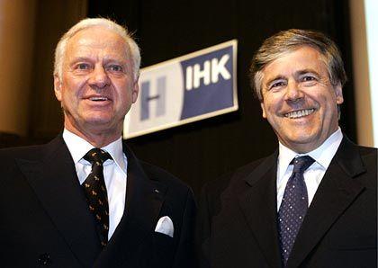 Ratschläge für Europa: Josef Ackermann (rechts) mit Klaus Goehrmann, Präsident der IHK Hannover