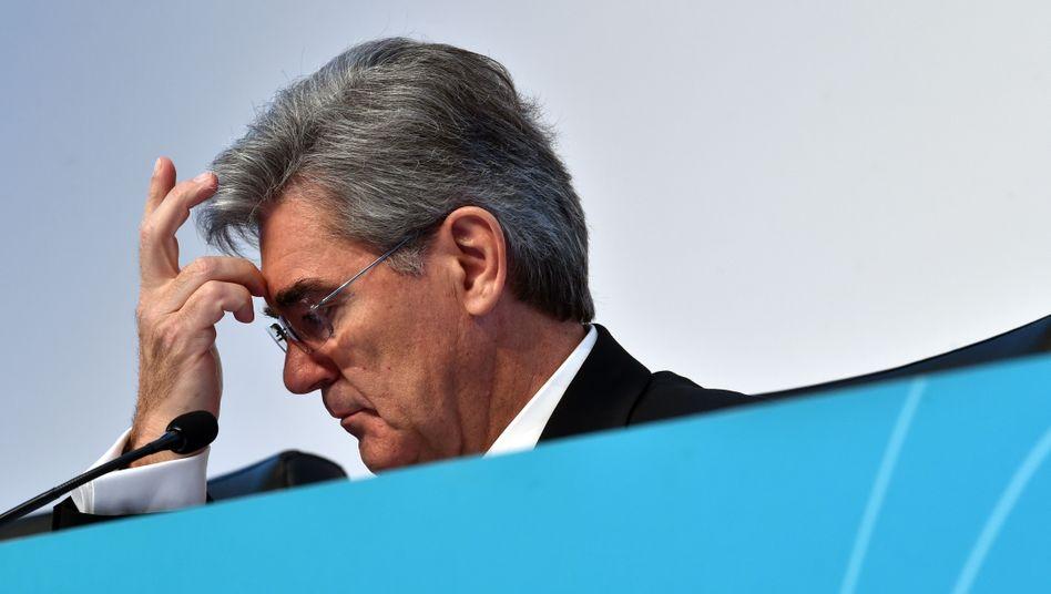 Siemens-Chef Joe Kaeser im November 2018 bei der Bilanzpressekonferenz seines Konzerns