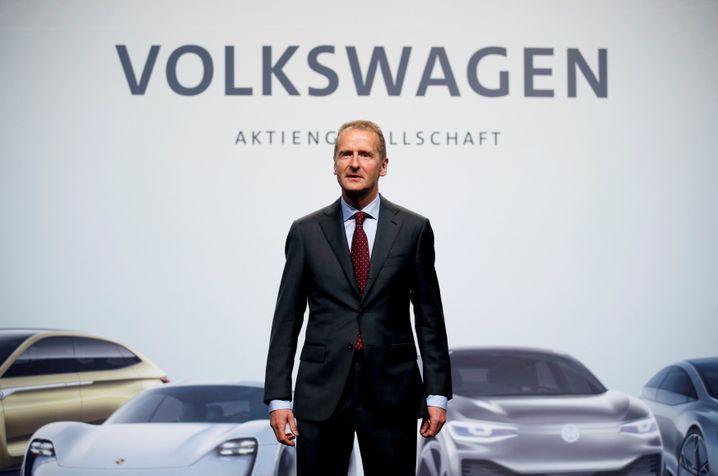 """""""Wir müssen mit unseren Autos deutlich mehr Geld verdienen"""": Volkswagen-Konzernchef Herbert Diess in Wolfsburg"""