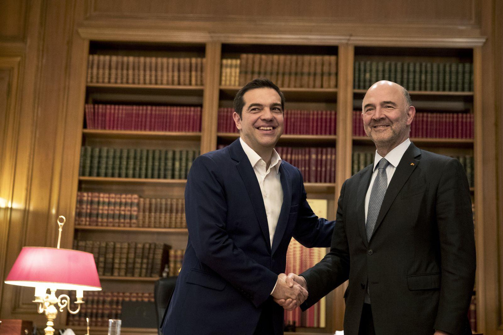 EU Währungskommissar in Athen
