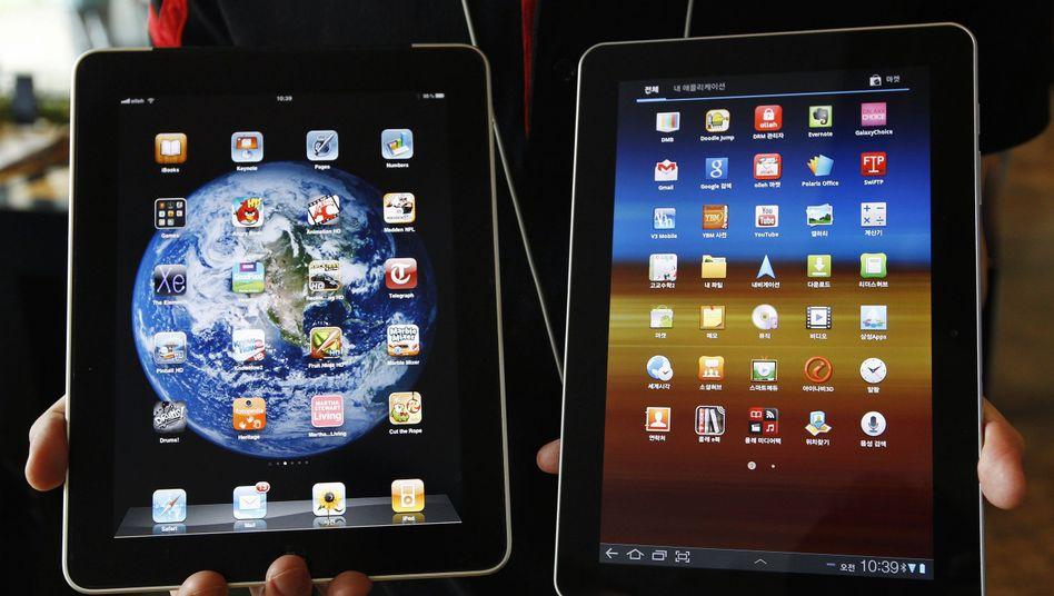Alles nur geklaut? Nach Ansicht von Apple hat Samsung bei seinem Tablet gegen Designpatente verstoßen