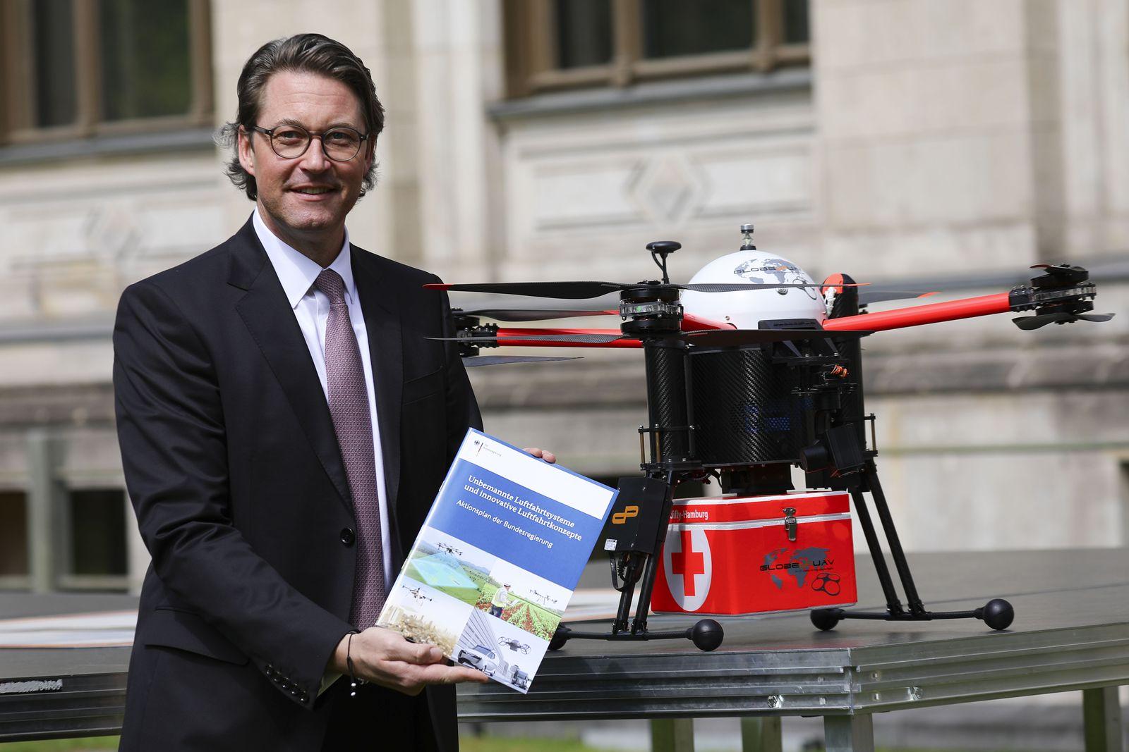Andreas Scheuer, Unbemannte Luftfahrtsysteme