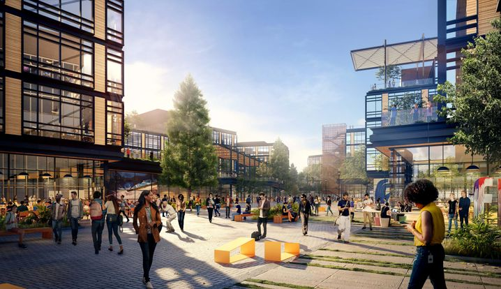 Illustration des geplanten Facebook-Campus Willow Village