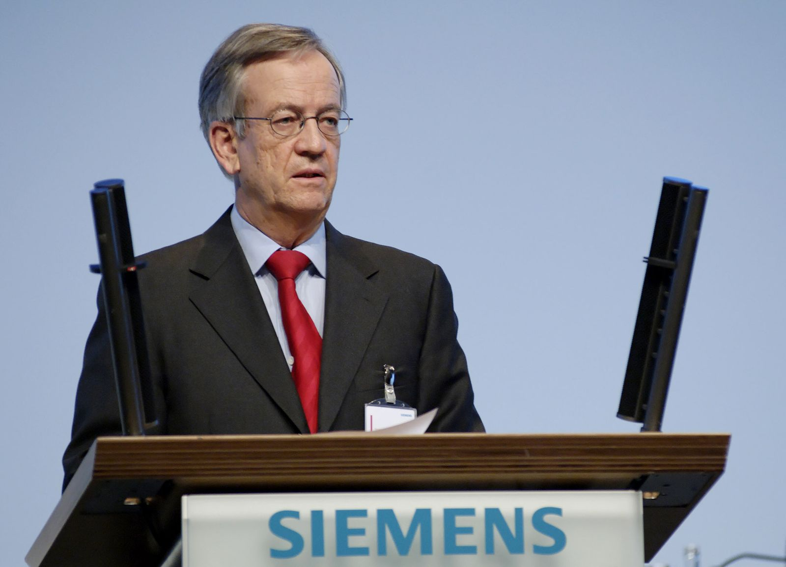 Pierer Siemens Hauptversammlung 2007