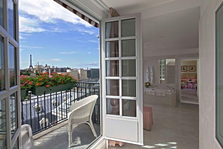 Über den Dächern von Paris: Eine der Suiten des Le Bristol Paris der Oetker Hotel-Collection