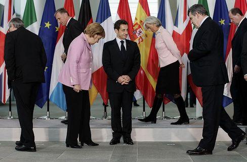 Gut vorbereitet? EU-Regierungs- und Staatschefs trafen sich vor wenigen Tagen im Kanzleramt, um ihre gemeinsame Marschrichtung für den Weltfinanzgipfel zu formulieren.