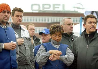 Opel-Werk Bochum: Die Tore blieben auch am Montag blockiert