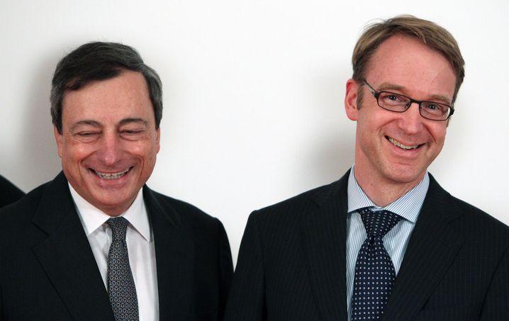 Mario Draghi und Jens Weidmann (2013)