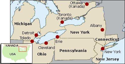 Von Cleveland bis New York: Vom Stromausfall betroffene Großstädte