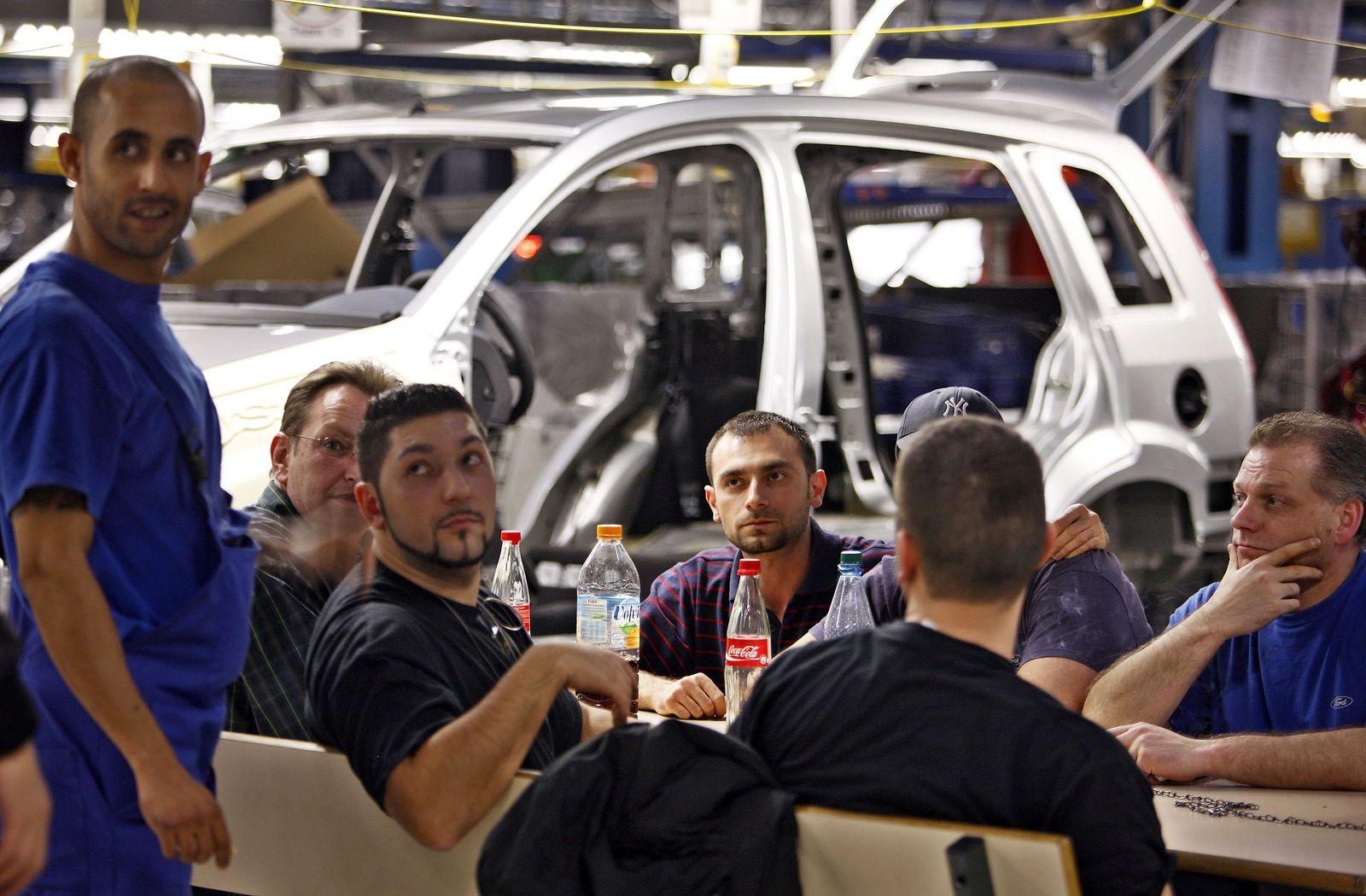 Mittagspause / Arbeitspause / Produktion / Ford in Köln