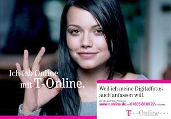 """""""Ich lebe online..."""": T-Online lockt mit Prominenten, die Konkurrenz antwortet mit attraktiven Preisen"""