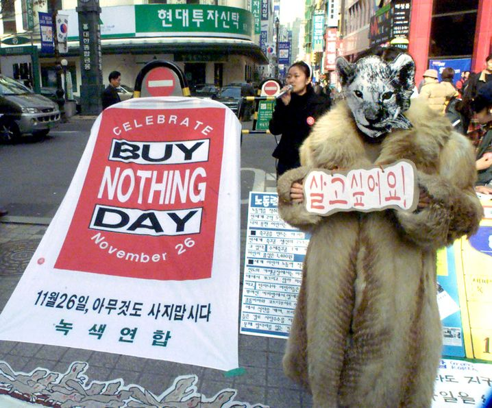 Wurde auch schon in Südkorea gefeiert: Der Buy Nothing Day