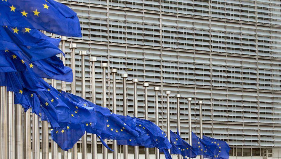 EU-Flaggen in Brüssel