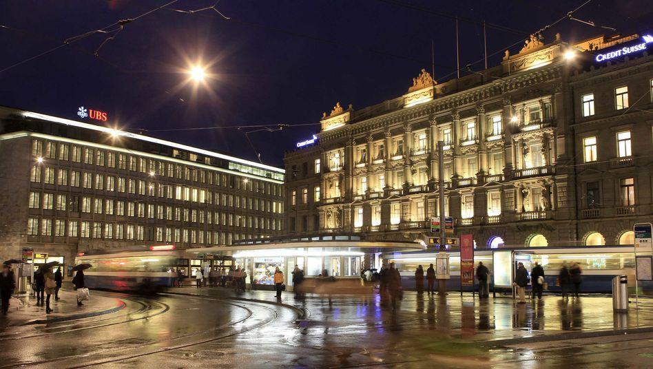 Banken am Züricher Paradeplatz