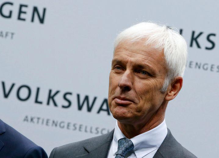 """Volkswagen-Konzernchef Matthias Müller: Mit seiner """"Strategie 2025"""" soll der Konzern fit für eine unsichere Zukunft werden"""