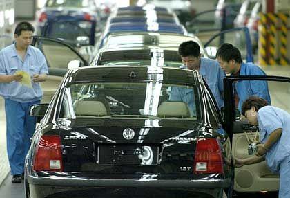 VW-Produktion in Shanghai: Der Marktführer verliert Marktanteile