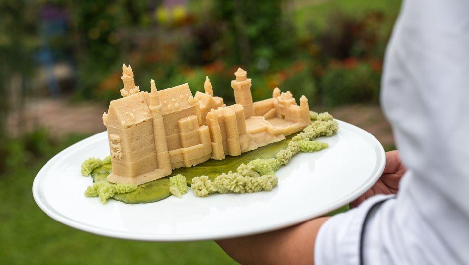 Marzipan-Nachbildung aus dem 3D-Drucker: Das Schloss Neuschwanstein