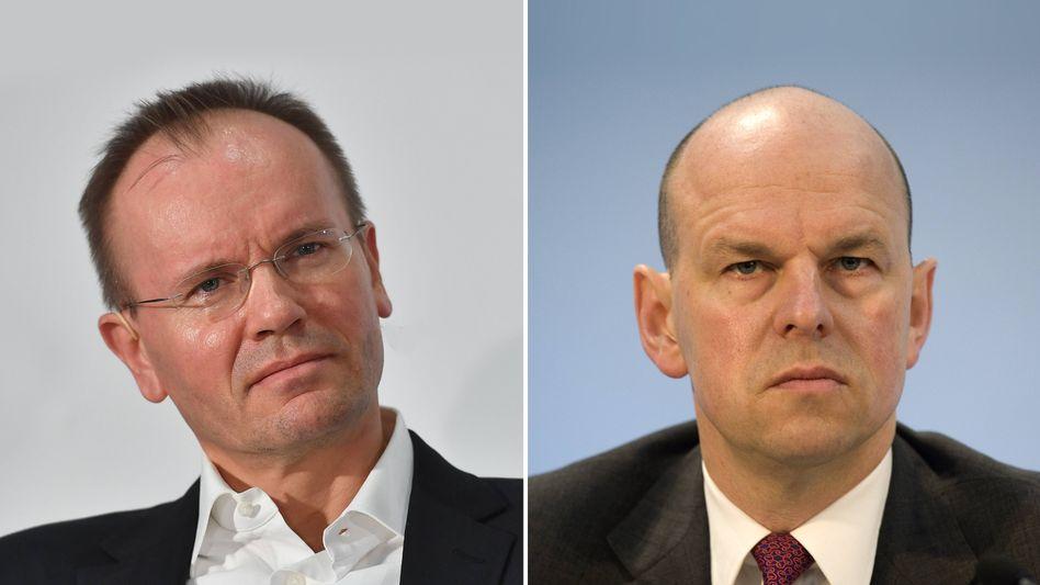 Ex-Wirecard-Chef Markus Braun (links), Ex-Chefkontrolleur Thomas Eichelmann: Nächtliche WhatsApp Brauns an den Aufsichtsratschef