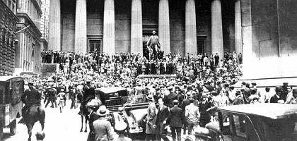 90 Prozent Kursverlust: Kommt es an den Börsen wieder so schlimm wie 1929?