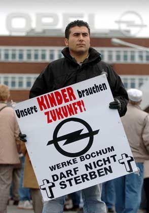 Opel-Mitarbeiter in Bochum: Der Ton wird rauer