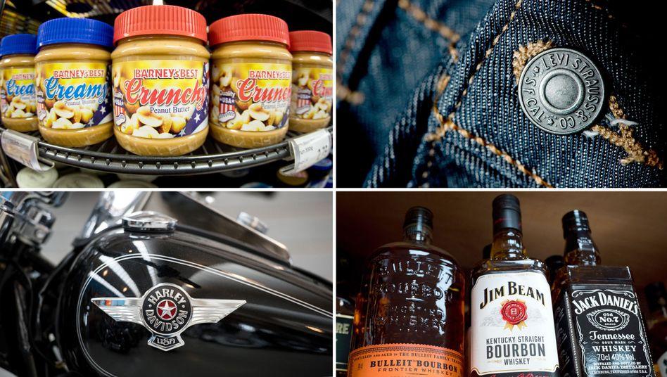 Levis-Jeans, Harley Davidson, Whiskey, Erdnussbutter: Auf diese Produkte will die EU ab Juli Gegenzölle erheben. Ab 2021 sind dann Touch-Screens und Glas aus den USA dran