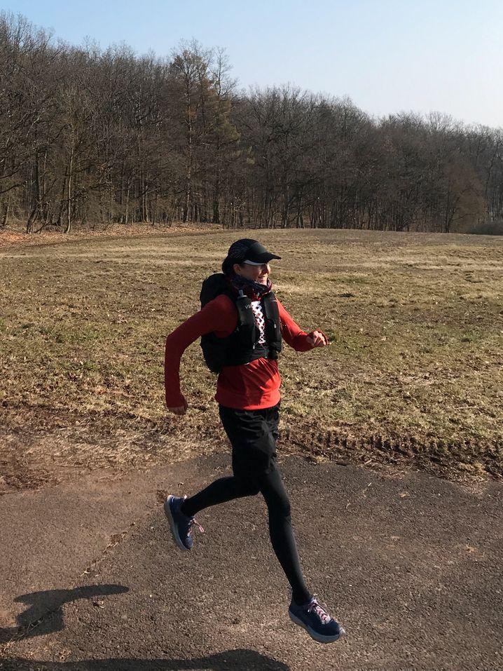 40 Kilometer pro Tag, mit 6 Kilogramm Gepäck auf dem Rücken: Stillstand ist keine Option