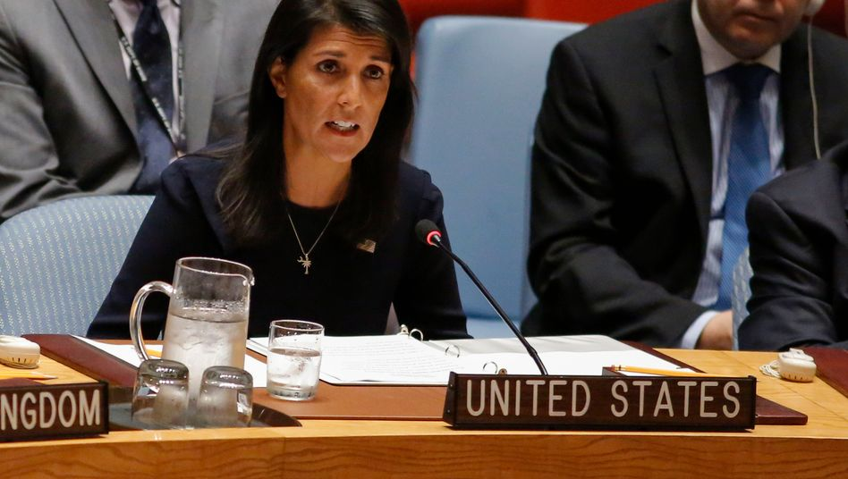 "US-Botschafterin Nikki Haley im UN-Sicherheitsrat: ""Nordkoreas Diktator bettelt um Krieg"""