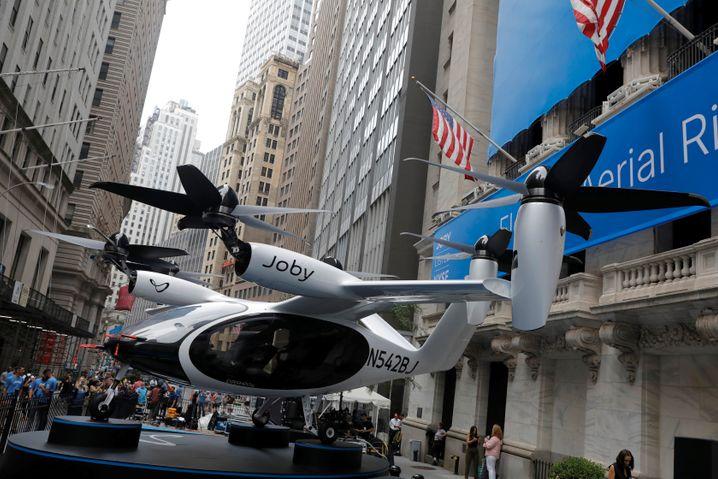 Hoffnungswert: Zum Börsenstart ließ das US-Start-up Joby ein Flugtaxi in die Wall Street hieven