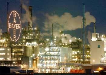 Wenig Vertrauen in die derzeitige Verfassung der Kapitalmärkte: Bayer-Werk in Leverkusen