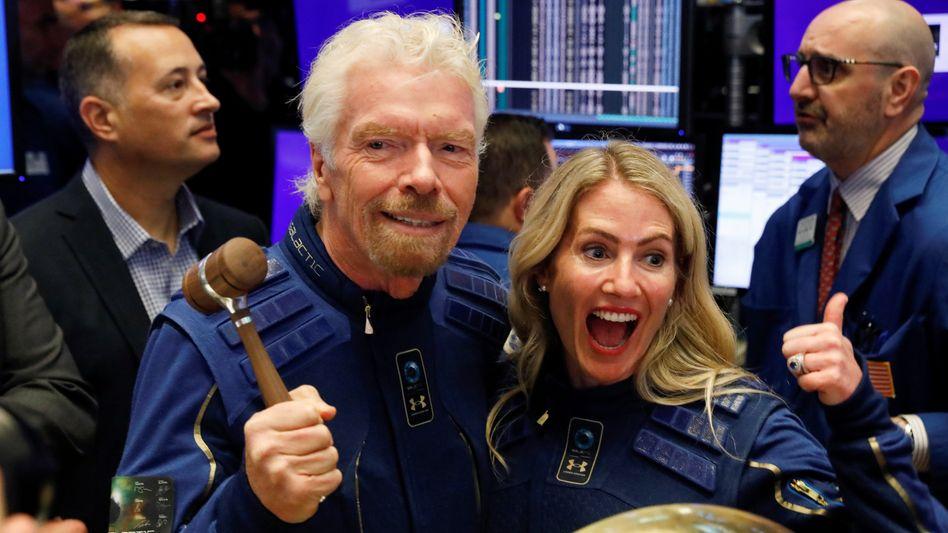 Trendsetter: Der britische Milliardär Richard Branson (70) brachte seine Raumfahrtfirma Virgin Galactic bereits 2019 per Spac an die New Yorker Börse