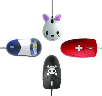 Buntes Programm: Es muss nicht immer seriös aussehen. Die Mäuse kosten rund 30 Euro