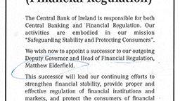 Per Stellenanzeige gesucht: Der irische Chefregulierer