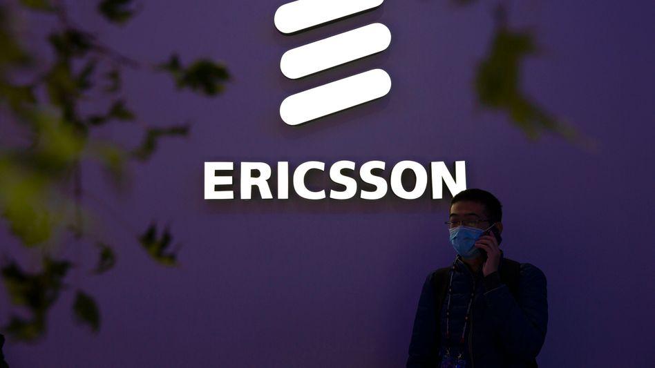 Ericsson-Messestand in Peking Mitte Oktober