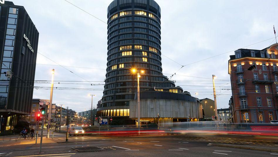 Zentrale der Bank für Internationalen Zahlungsausgleich in Basel. Die BIZ ist so etwas wie die Intelligenz-Zentrale aller Notenbanken